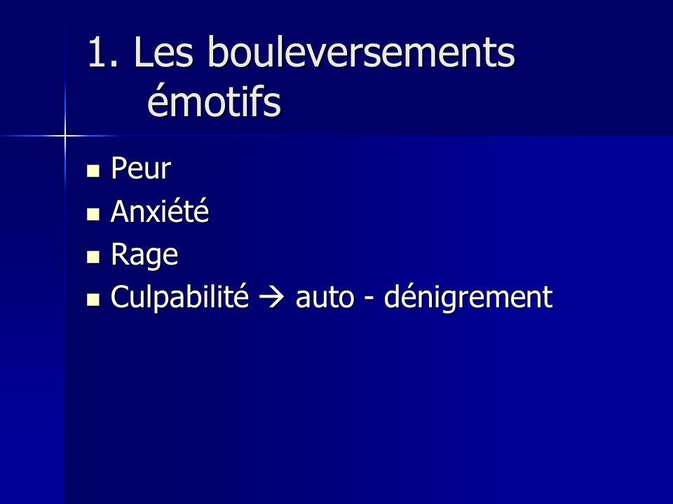 1. Les bouleversements émotifs