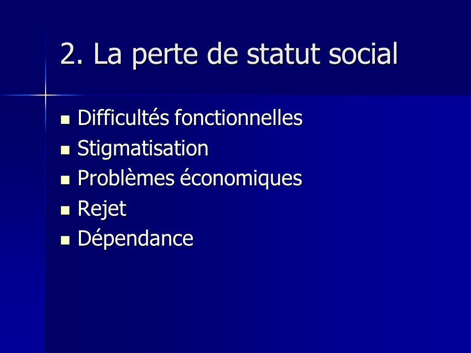 2. La perte de statut social