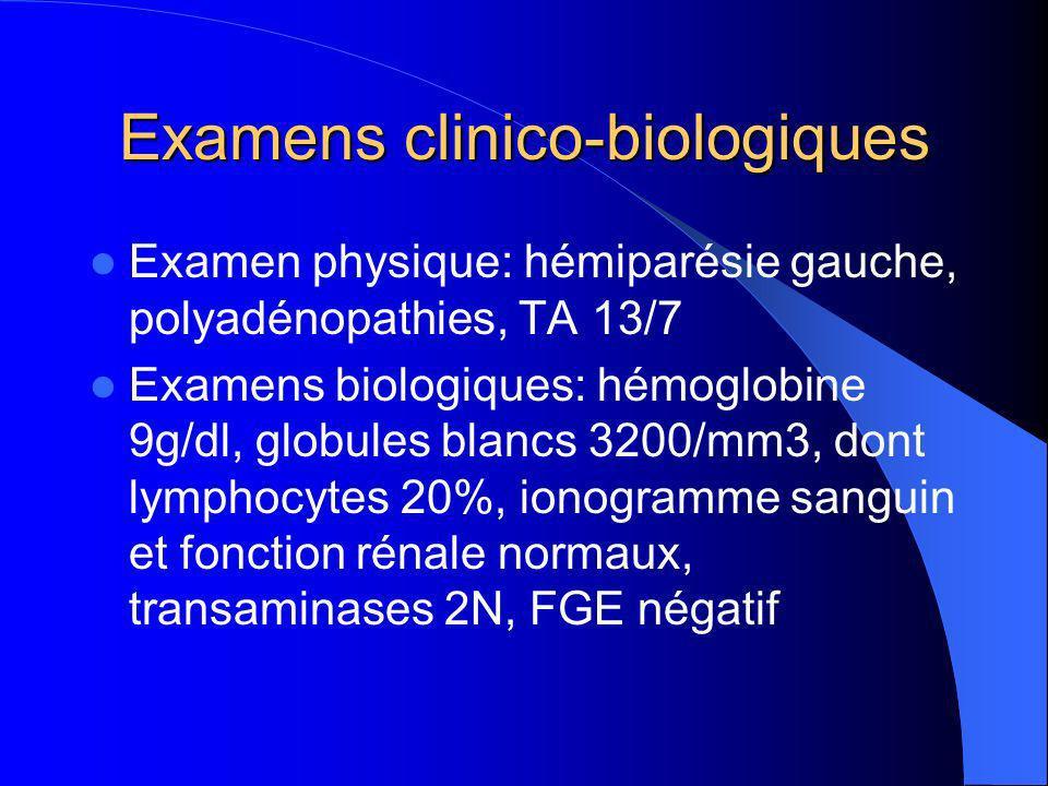 Examens clinico-biologiques