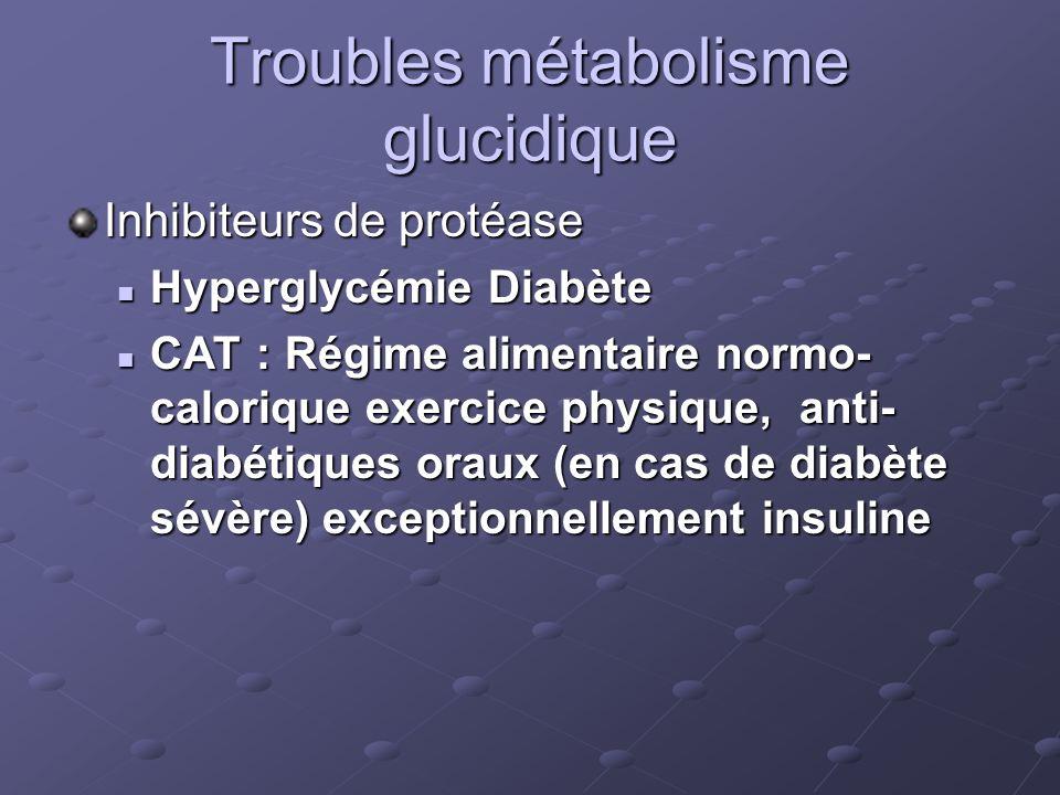 Troubles métabolisme glucidique