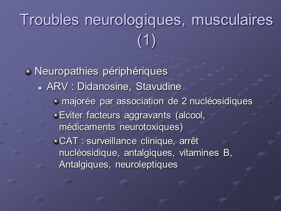 Troubles neurologiques, musculaires (1)