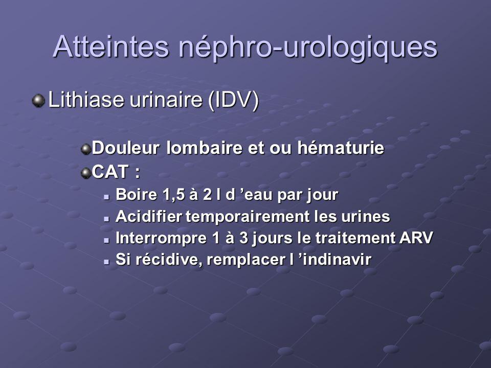 Atteintes néphro-urologiques
