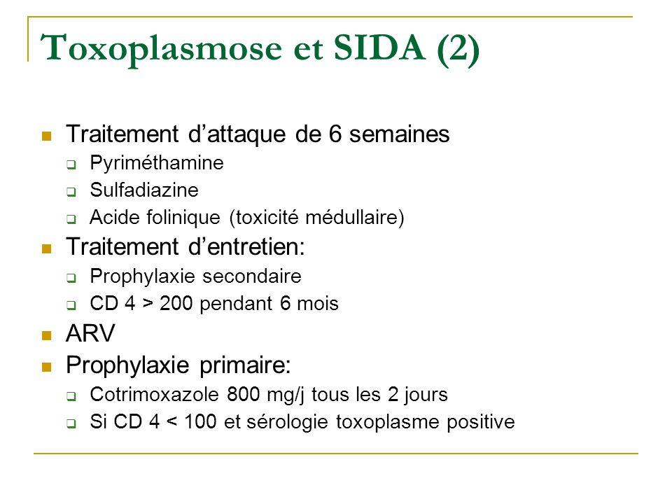 Toxoplasmose et SIDA (2)