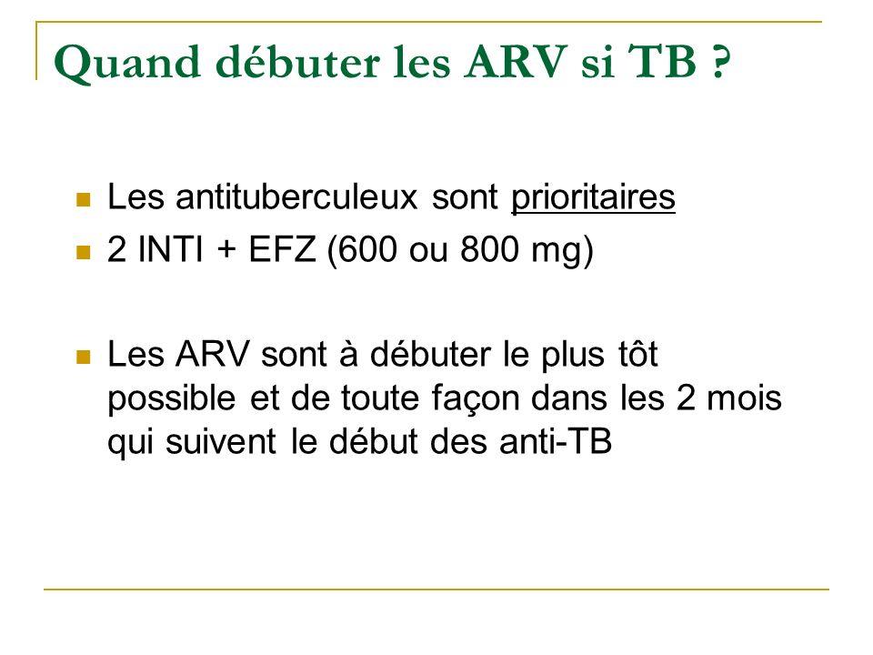 Quand débuter les ARV si TB