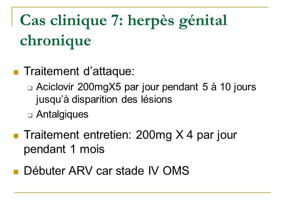 Cas clinique 7: herpès génital chronique