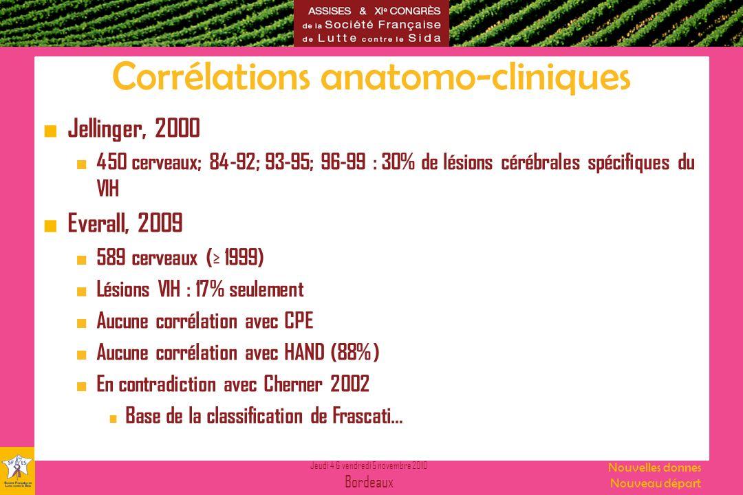 Corrélations anatomo-cliniques
