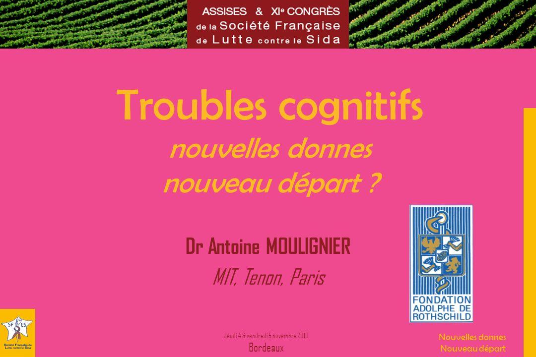 Troubles cognitifs nouvelles donnes nouveau départ