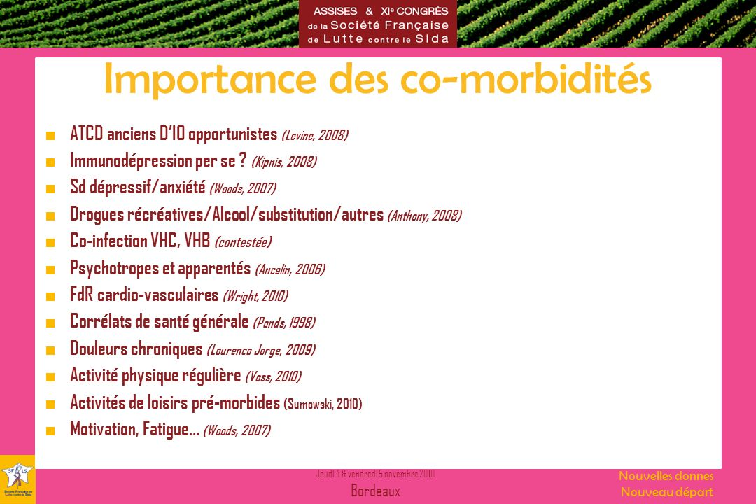 Importance des co-morbidités
