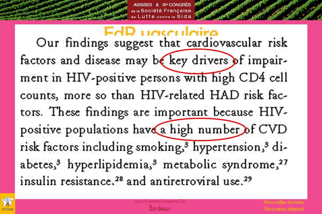 FdR vasculaire » facteurs directement liés au VIH FdR vasculaire