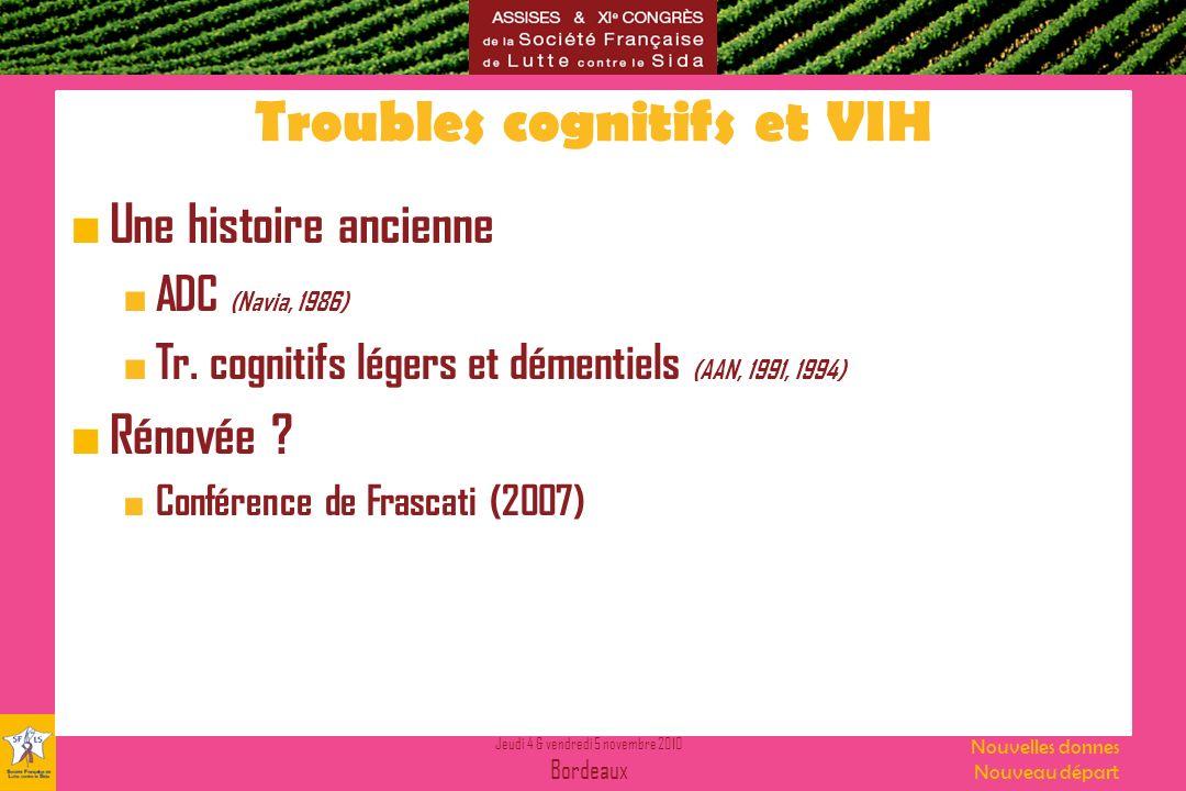 Troubles cognitifs et VIH