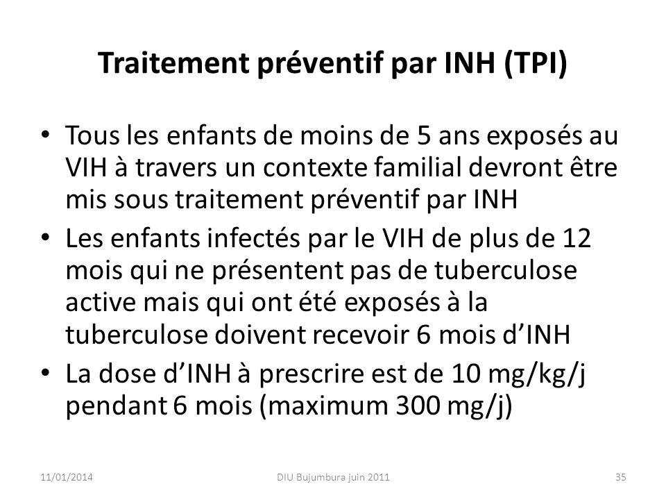 Traitement préventif par INH (TPI)