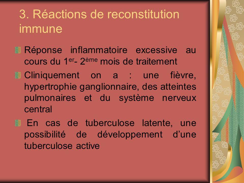 3. Réactions de reconstitution immune