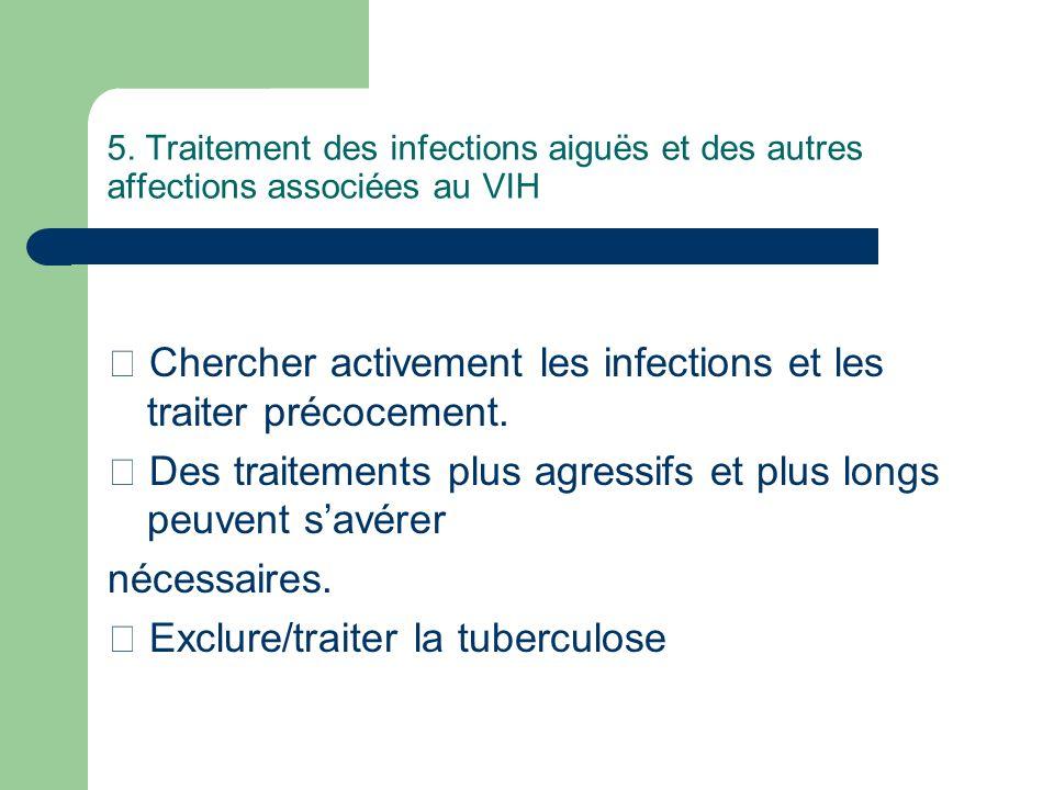  Chercher activement les infections et les traiter précocement.