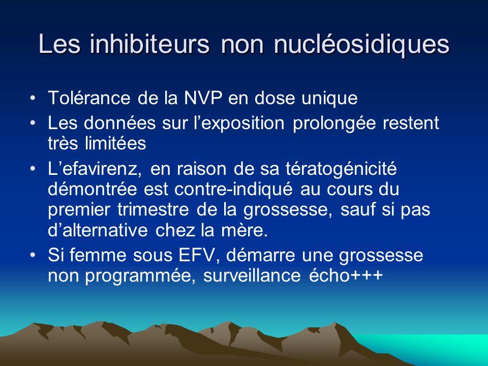 Les inhibiteurs non nucléosidiques