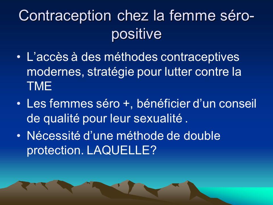Contraception chez la femme séro-positive
