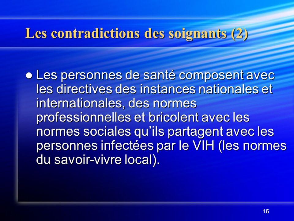 Les contradictions des soignants (2)