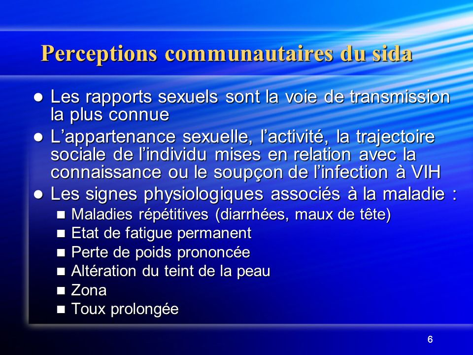 Perceptions communautaires du sida