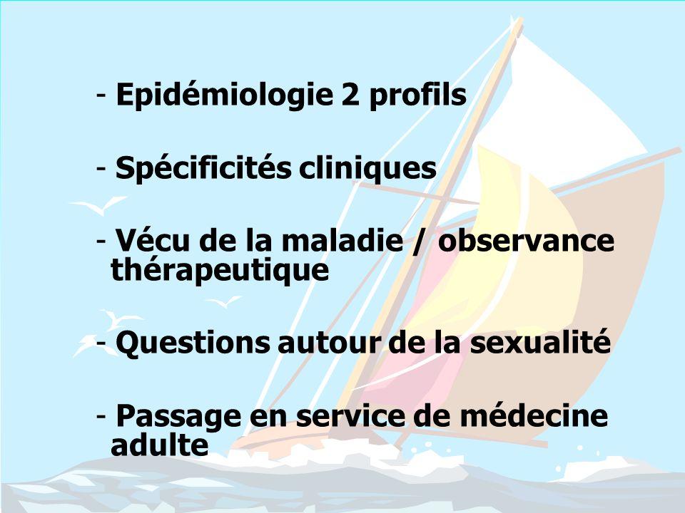 Epidémiologie 2 profils