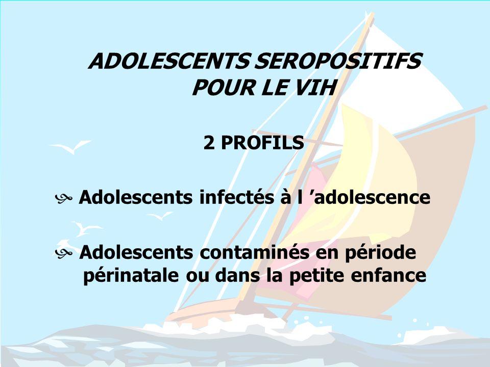 ADOLESCENTS SEROPOSITIFS POUR LE VIH