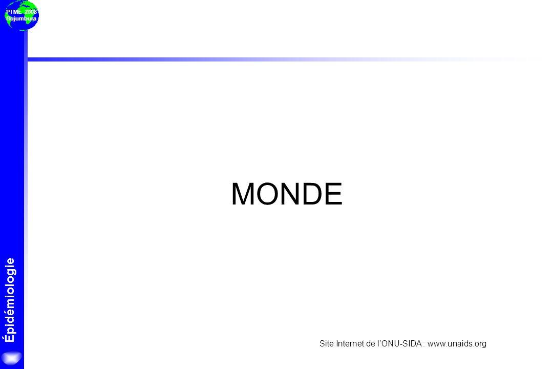 MONDE Site Internet de l'ONU-SIDA : www.unaids.org