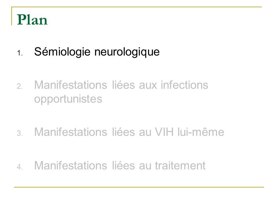 Plan Sémiologie neurologique