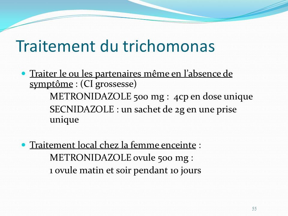 Traitement du trichomonas