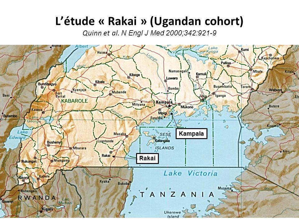 L'étude « Rakai » (Ugandan cohort) Quinn et al