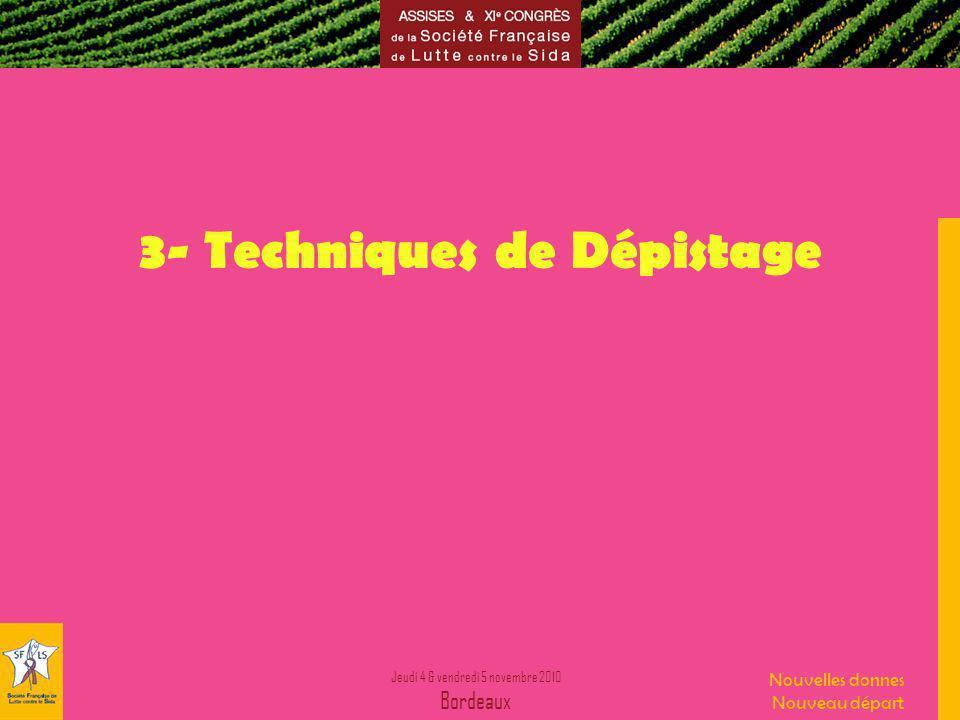 3- Techniques de Dépistage