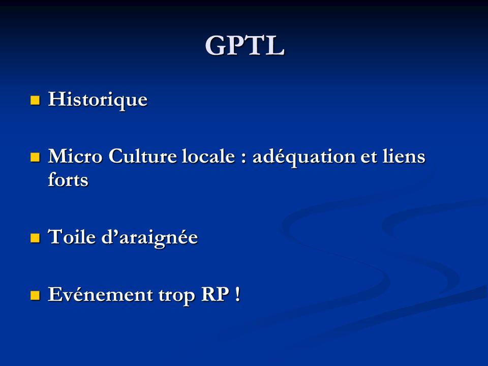 GPTL Historique Micro Culture locale : adéquation et liens forts