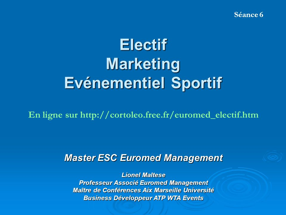 electif marketing ev u00e9nementiel sportif