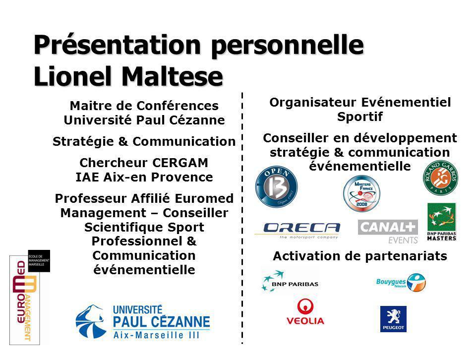 Présentation personnelle Lionel Maltese