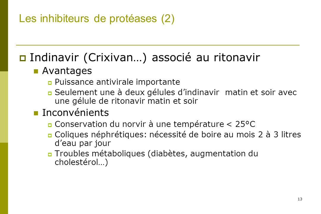 Les inhibiteurs de protéases (2)