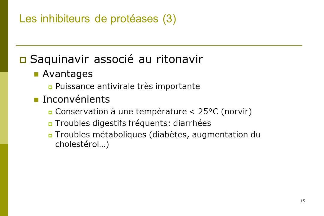 Les inhibiteurs de protéases (3)