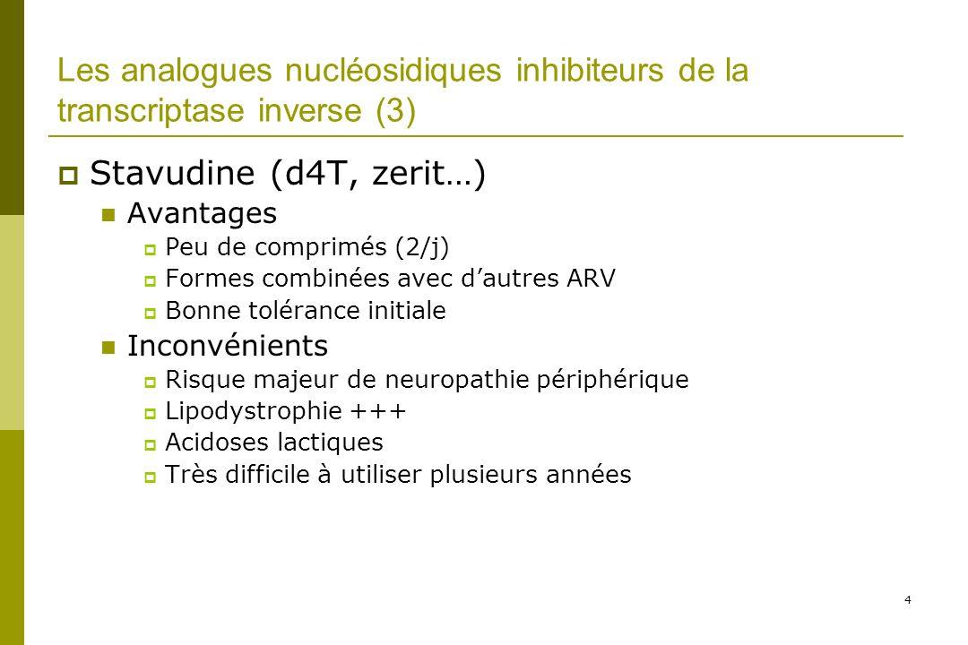 Les analogues nucléosidiques inhibiteurs de la transcriptase inverse (3)