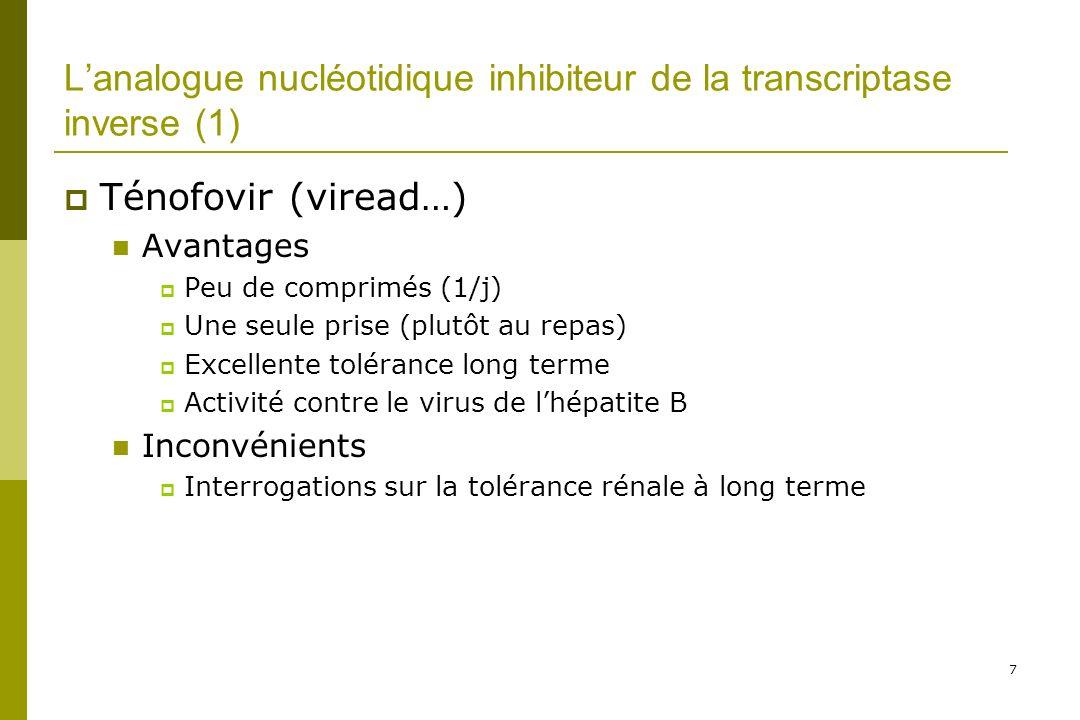 L'analogue nucléotidique inhibiteur de la transcriptase inverse (1)