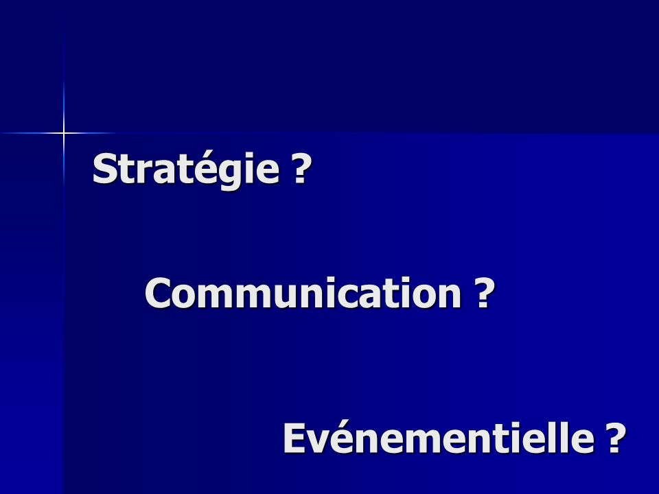 Stratégie Communication Evénementielle