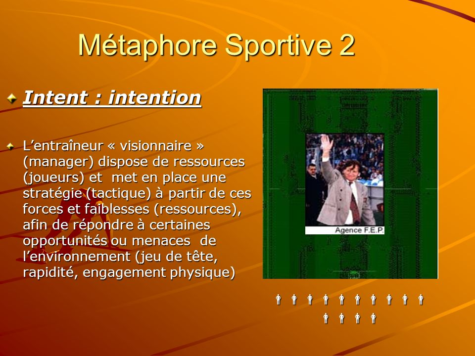 Métaphore Sportive 2 Intent : intention 