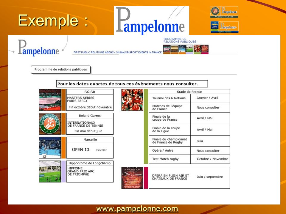 Exemple : www.pampelonne.com