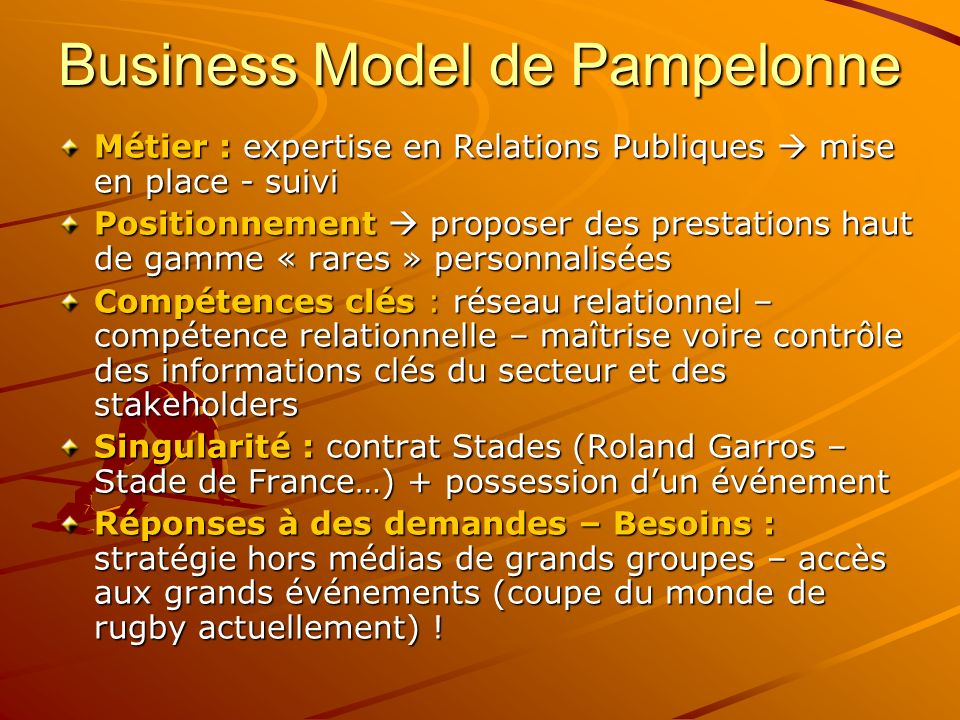 Business Model de Pampelonne