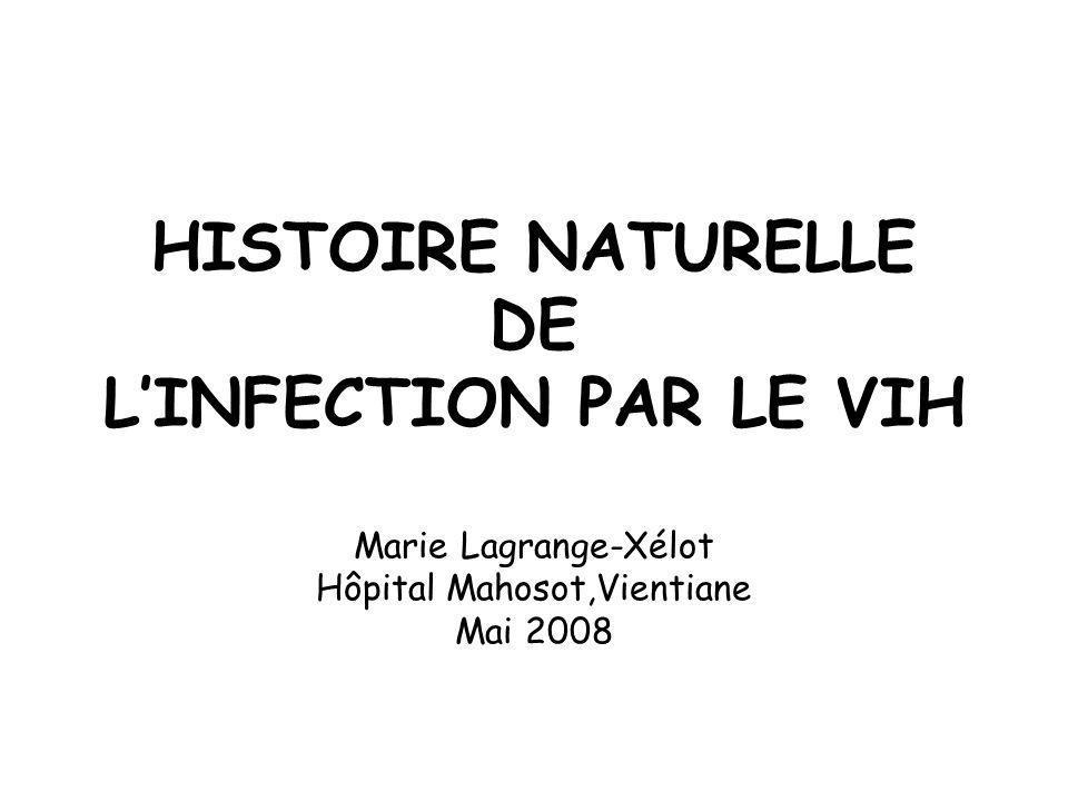 HISTOIRE NATURELLE DE L'INFECTION PAR LE VIH