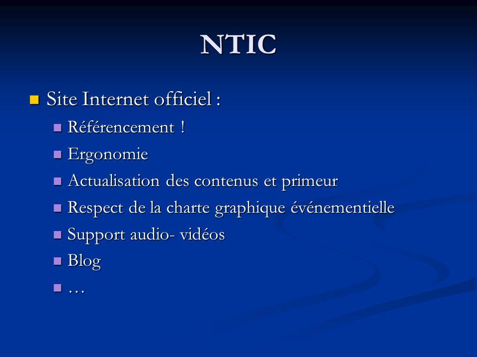 NTIC Site Internet officiel : Référencement ! Ergonomie