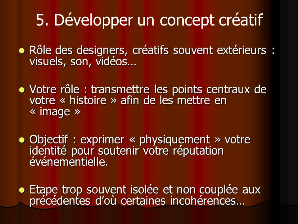 5. Développer un concept créatif