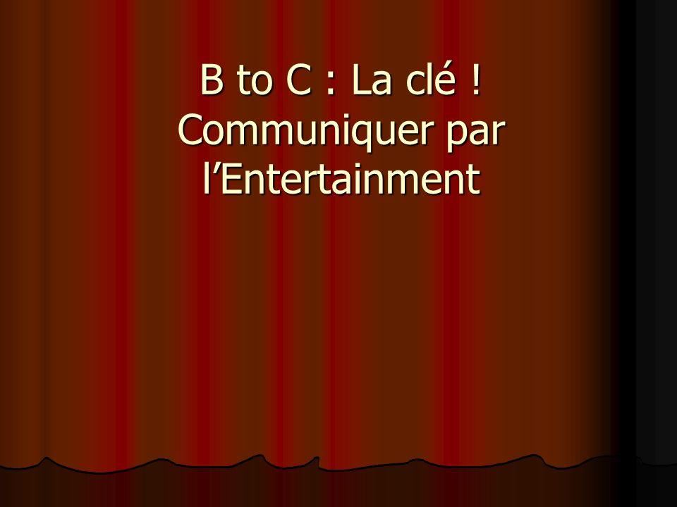 B to C : La clé ! Communiquer par l'Entertainment