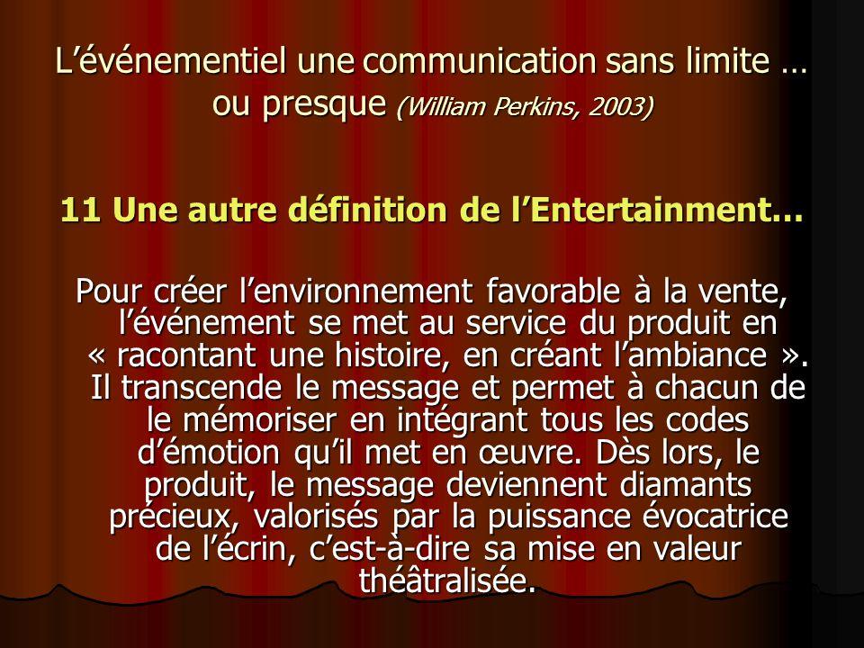 11 Une autre définition de l'Entertainment…