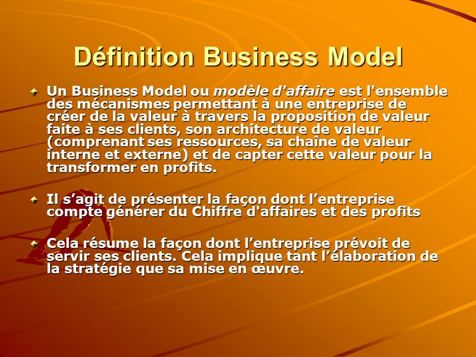 Définition Business Model