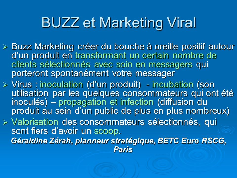 BUZZ et Marketing Viral