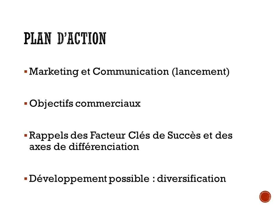 Plan d'action Marketing et Communication (lancement)