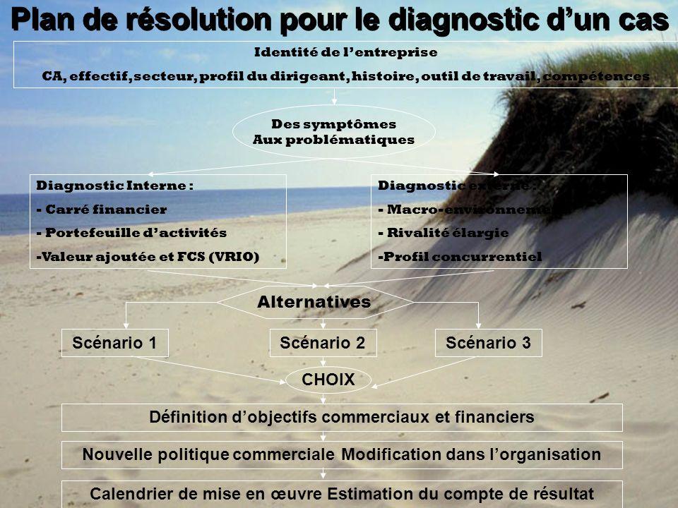 Plan de résolution pour le diagnostic d'un cas