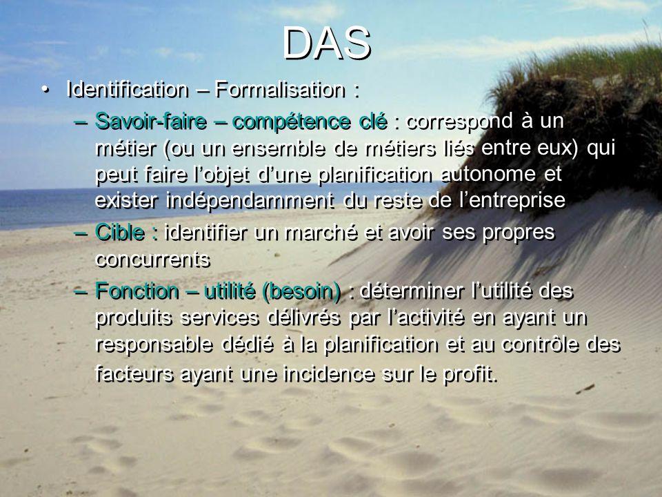 DAS Identification – Formalisation :