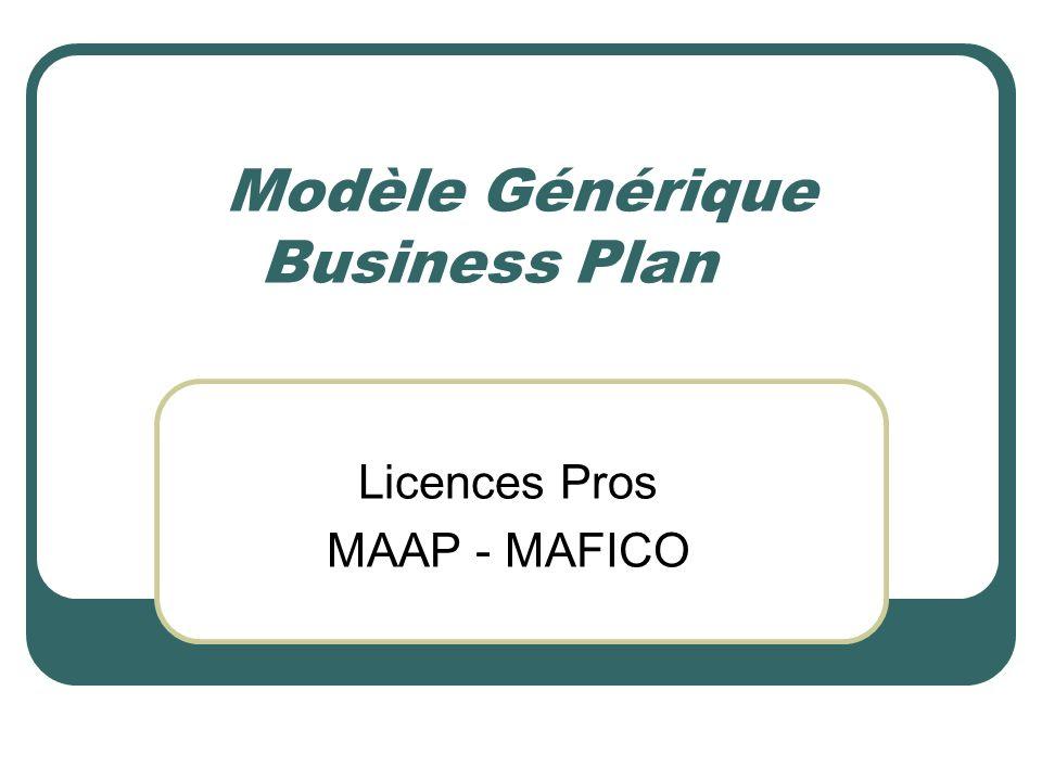 Modèle Générique Business Plan